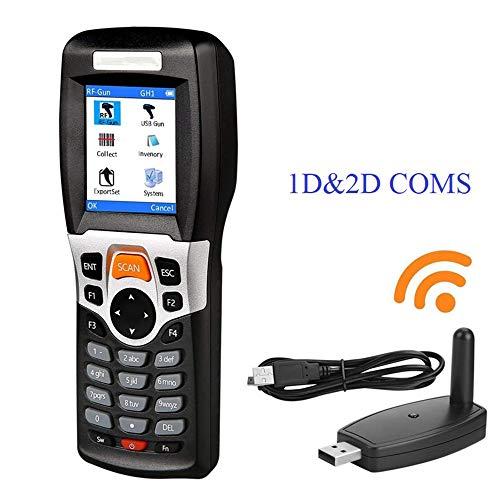 WENHU 2.4G sans Fil Barcode Scanner et Collector Inventaire Terminal Portable collecteur de données périphérique Barcode Scanner USB,1D2DCOMS