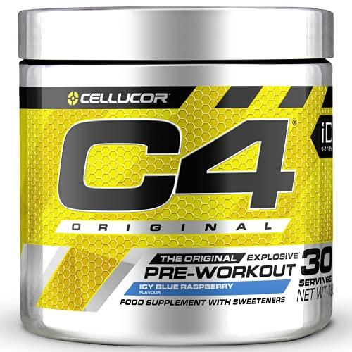 C4 Original - Pre-Workout-Booster - Icy Blue Razz (Himbeere) | Getränkepulver für Energy Drink | 150 mg Koffein + Beta-Alanin + Kreatin-Monohydrat | 30 Portionen