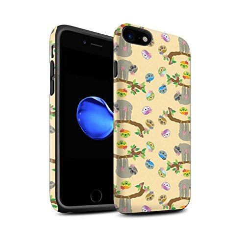 Stuff4® matte harde schokbestendige hoes/case voor Apple iPhone 8 / lief karikatuurpatroon/wilde dier luier collectie