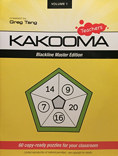 Teachers Kakooma Blackline Master Edition Volume 1