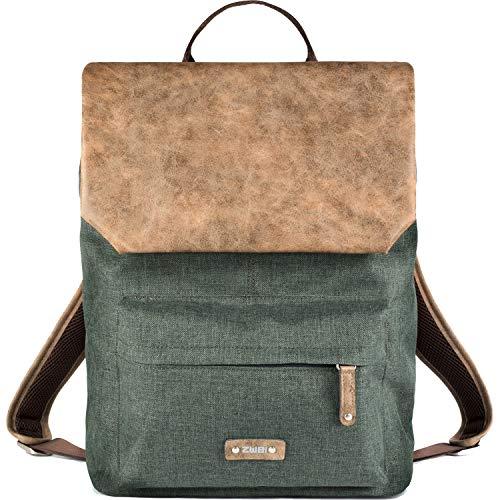 Zwei Rucksack OLLI O17-z Damen und Herren Kunstleder-Nylon, Farben Taschen:Olive