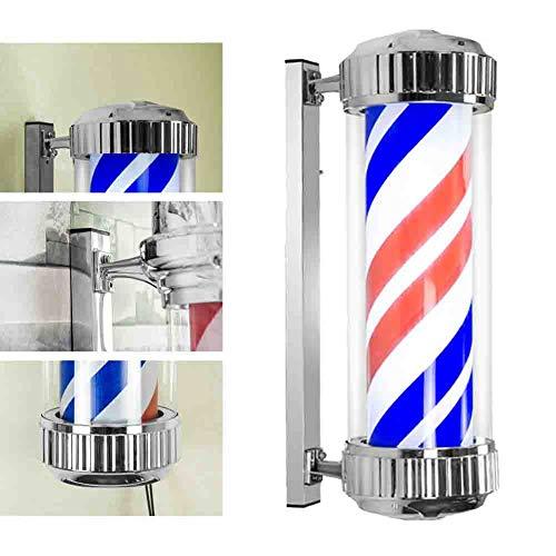 Barbers Pole Light Barbershop Outdoor Turn Light Hair Salon Hairdressing LED Sign Light Box Red...