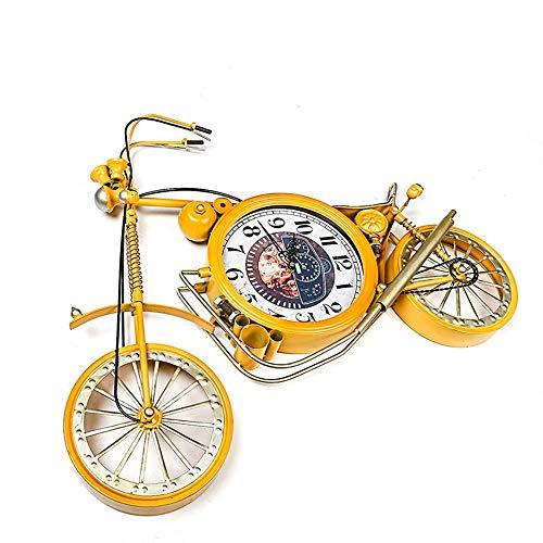 WHSS Relojes de pared de hierro forjado reloj de bicicleta adornos creativos de metal para colgar en la pared adornos para el hogar