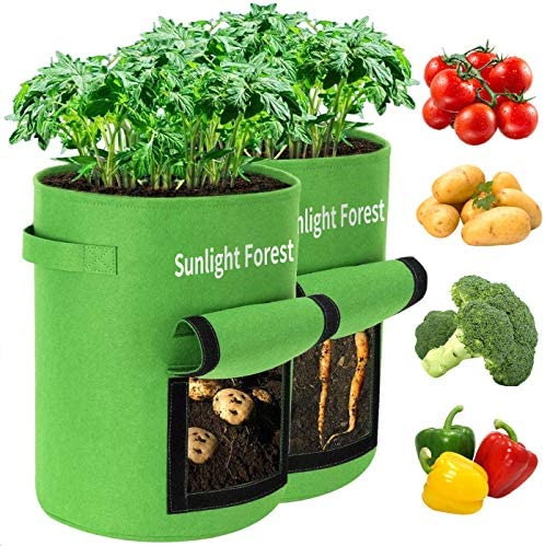 10 Gallon Grow Bags 2 Pack Sunlight Potato Grow Bags Thickened Non Woven Aeration Fabric Pots product image