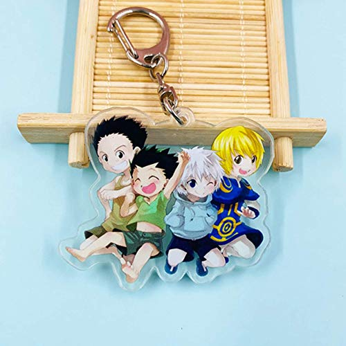Iwinna Anime Hunter X Hunter Keychain Props Key Ring Toy, Anime Merchandise(Multicolor(style01))
