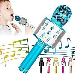 powerful KIDWILL Wireless Bluetooth Karaoke Microphone, 5-in-1 Portable Karaoke Microphone …
