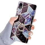 Robinsoni Compatibile con iPhone XR Cover con Anello Bling Cristallo Strass Bumper Custodi...