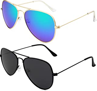 Sunglasses for Men Women Aviator Polarized Metal Mirror UV 400 Lens Protection