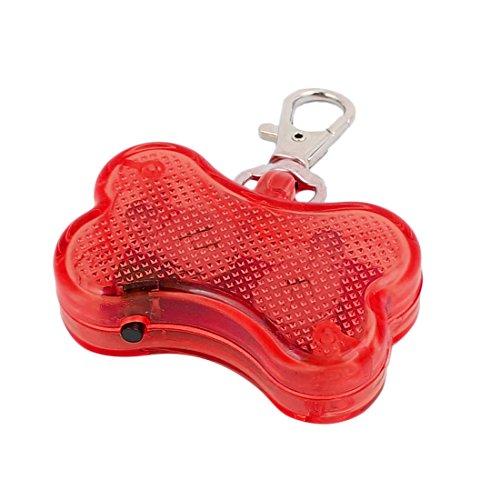 Aexit Rote LED Licht Knochenform Hund Blinker Blinkende Sicherheit Anhänger Kragen Geschenk (c62a4890e9e65b8e831cd358a582cace)