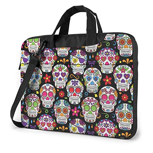 The Dead Sugar Skull Laptop Sleeve Case 15.6 Inch Computer Tote Bag Shoulder Messenger Briefcase for Business Travel