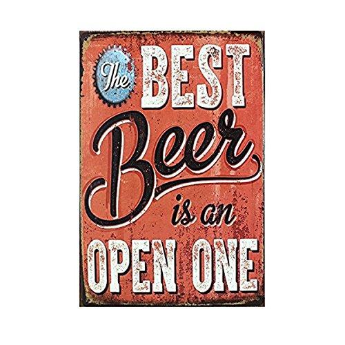 ROSENICE Bier Blechschild Poster Wandschild Wand Dekoration Metallschild Türschild