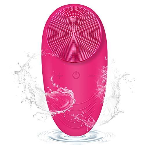 Gesichtsreinigungsbürste Silikon, Fayleer Gesichtsbürste Silikon Elektrisch Gesichtsreiniger Gesichtsmassagegerät Porentiefe Reinigung mit Sonic Vibration Wasserfeste USB Aufladbare für Alle Hauttype