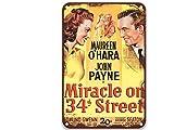 sfasf Miracle On 34th Street - Letrero de metal con diseño de películas vintage para habitaciones al aire libre, dormitorio o baño de 20 x 30 cm