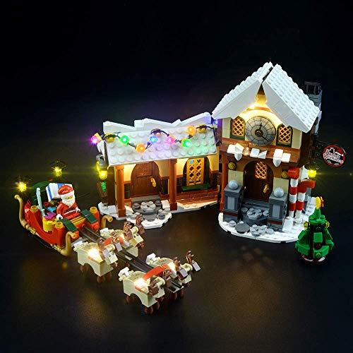 LED-Licht Set für Lego 10245 Bausteine Modell, Licht Kit Kompatibel mit Santa's Workshop (NICHT im Modell enthalten)
