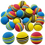 Qixuer 30 Unidades Práctica Pelotas de Golf,Esponja Pelotas de Golf Bolas de Golf de Práctica Bolas de Espuma de Colores Suaves de Golf para Principiantes Niños y Aficionados