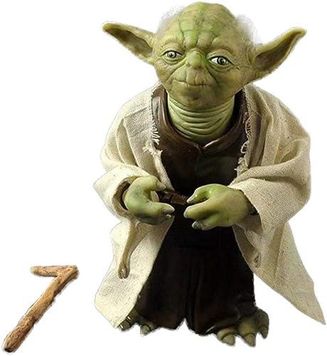 online barato SONGDP Anime Juguete Modelo de Personaje de Anime Anime Anime Star Wars Yoda Master simulación de Piel colección Doll Boy Toy PVC Modelo decoración del hogar 18 cm Estatua cómica  autorización