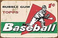 トップス野球 金属板ブリキ看板警告サイン注意サイン表示パネル情報サイン金属安全サイン