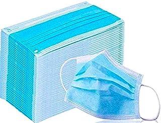 Protector facial de 3 capas con cubierta elástica para el asa del oído Anti-polvo de cara completa (50 PCS)