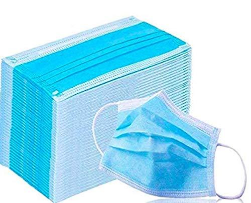 Protector facial de 3 capas con cubierta elástica para el asa del oído Anti-polvo de cara completa (100 PCS)