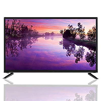 Mugast 43 Inch Smart TV,19201080 USB/HDMI/RF/AV/Network Flat HDR LCD Television Display Screen with Artificial Intelligence Voice Function for PC(US)
