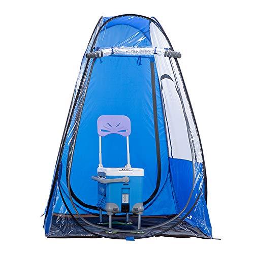 Kimmyer Pop-Up-Zelt-Pod-Angelzelt, 190T wasserdichtes Gewebe, große vordere und hintere Reißverschlussvorhänge, Reißverschlussfenster auf beiden Seiten, winddichter Vier-Ecken-Haken
