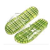 水切り 足つぼ サンダル リフレクソロジー ツボ押し 健康サンダル 選べるカラー・サイズ (アーミーグリーン, L)