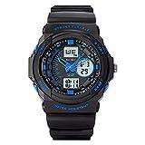 Herren Sport Digital Uhren - 50 m Wasserdicht Sport Armbanduhr mit Wecker Stoppuhr, Schwarz Big Face...