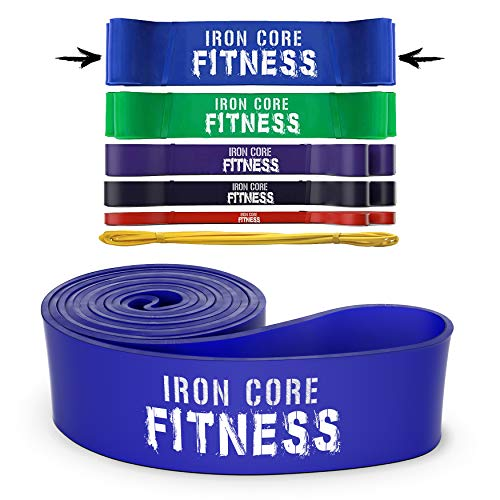 Pull up Bands - Monster Resistance Bands for Powerlifting Squats, Deadlifting, Bench Press, Chin up Assist - X-Heavy Resistance Bands for Strength, Rehab and Mobility - Extra Heavy Duty Band Blue