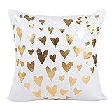 Fossrn Funda Cojines 45x45 Papel de oro Impresión Moderno Cuadrado Fundas de Almohada Decorativo Sofa Baratos (04)