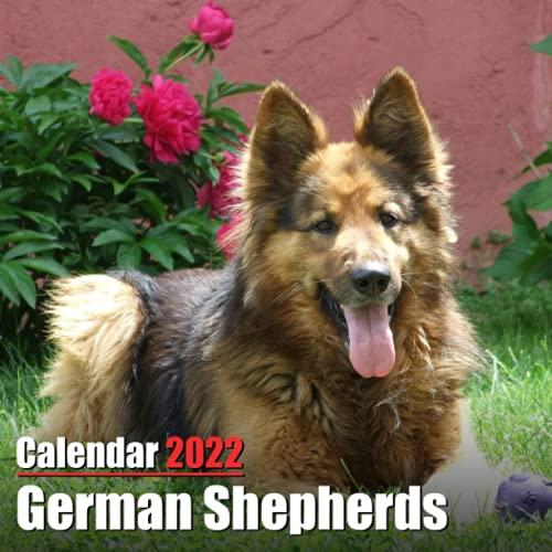 Calendar 2022 German Shepherds: Cute German Shepherds Photos Monthly Mini Calendar | Small Size