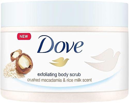 Dove Exfoliating Body Polish Macadamia & Rice Milk 298g