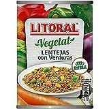 LITORAL Vegetal Lentejas con Verduras - Plato Preparado Sin Gluten - Paquete de 10x430g -...