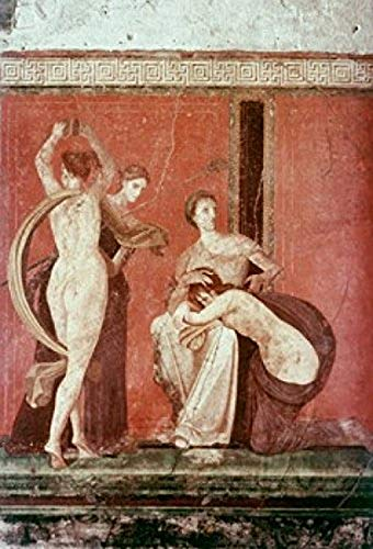 Villa Of The Mysteries Flagellated Woman And Bacchante C 50 BC Roman Art(- ) Fresco Villa of the Mysteries Pompeii Italy Poster Print (18 x 24)