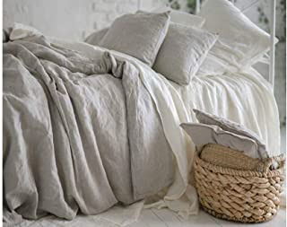 Organic 100% Hemp Bed Duvet Cover, Natural Breathable Fabric, Comfort Sleeping (Many Sizes) (180x200cm (Queen))