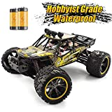 GPTOYS Hobbyist Grade RC Cars, 1/12 Remote Control Car, Waterproof Off-Road Monster RC Truck with 2 Rechargeable Battery Gift for Boys and Adults