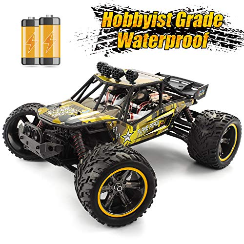 GPTOYS 1/12 RC Cars 38KM/H Remote Control Car 2.4 GHz Off-Road RC Truck S916 with 2 Rechargeable Battery Gift for Kids Monster Truck for Boys (Army Green)