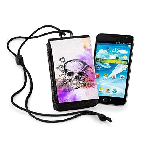 Mobilinnov Schutzhülle Doro Secure 580 IUP Color Skull – Tasche mit Gürtelclip & Handschlaufe für Hals & Brieftasche