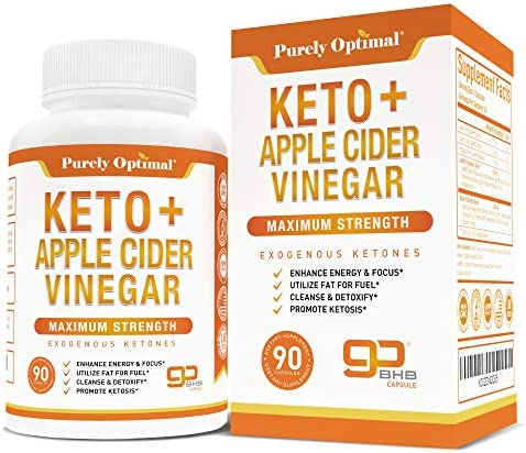 Premium Keto Pills Apple Cider Vinegar Capsules with Mother Utilize Fat for Energy with Ketosis product image