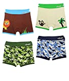 Product Image of the Boys Boxer Briefs Toddler Training Underwear Easy Pull Up Handles (4 Pack) (2-3...