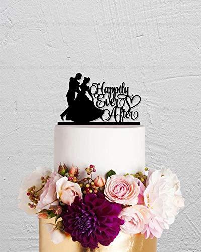 Decoración para tarta de boda, decoración para tarta de Cenicienta, decoración personalizada para tartas, princesa y príncipe