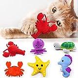 Sea Animals Catnip Toys Seafood Kitten...