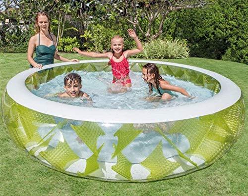 Gpzj Kinder-Sommerpool, aufblasbares Wasserparkspielzeug Geeignet für Kinder über 3 Jahre 229 * 56CM