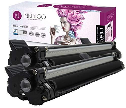 Tóner INKDIGO para la Impresora láser Brother BR-1030-1D, 2 Piezas, Color Negro, hasta 2000 páginas Premium