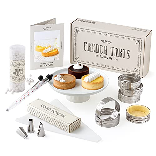 Cooking Gift Set Co. | French Tart Baking Kit | French Pastry Made Simple with Step by Step Instructions | Gifts for Bakers
