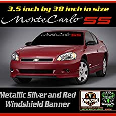 6 to 8 Year Outdoor Life 3.4 inch by 38 inch Different Colors Chevrolet Chevy Impala Windshield Banner Graphic Decal Sticker Emblem