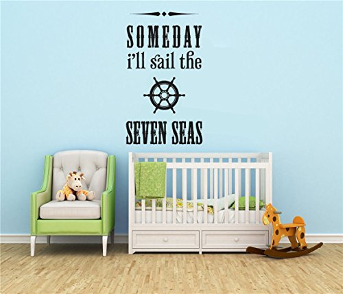 Stickers Muraux Vinyl Stickers Wall Home Decor Wall Decor Art Sticker Home Decals I'Ll Sail The Seven Seas