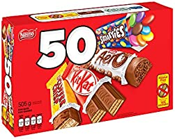 NESTLÉ Mini Halloween Assorted Chocolate & Candy - KITKAT, Coffin Crisp, SCAERO, SCARIES - 505 g (Pack of 50 Mini Bars)