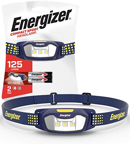 Energizer LED Headlamp Flashlight CS-125 - Running, Camping, and Outdoor Headlamps - Best Head Lamp for Adults and Kids, Batteries Included (ENHDCS22E)