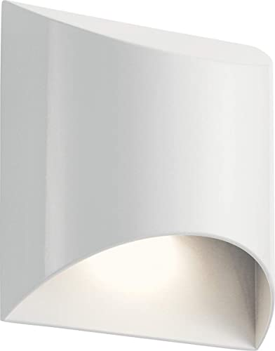 Kichler 49278WHLED Wesley Outdoor Wall Sconce, 1-Light 10 Watts, White