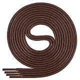 Di Ficchiano-SW-03-brown-80 gewachste runde Schnürsenkel, Schuband, Laces, Durchmesser 2-4 mm für Businessschuhe, Anzugschuhe und Lederschuhe